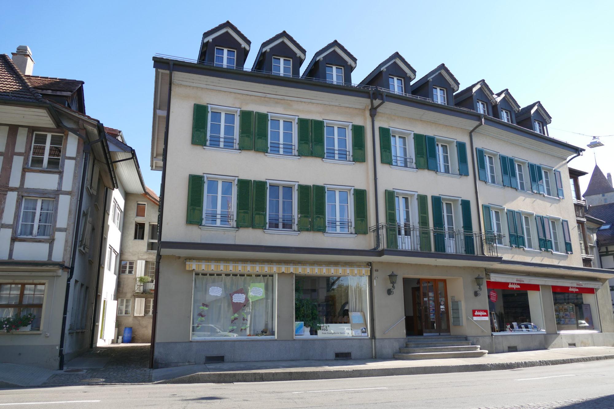 Foto des Gemeindelokals der FEG Laupen-Bösingen von Aussen