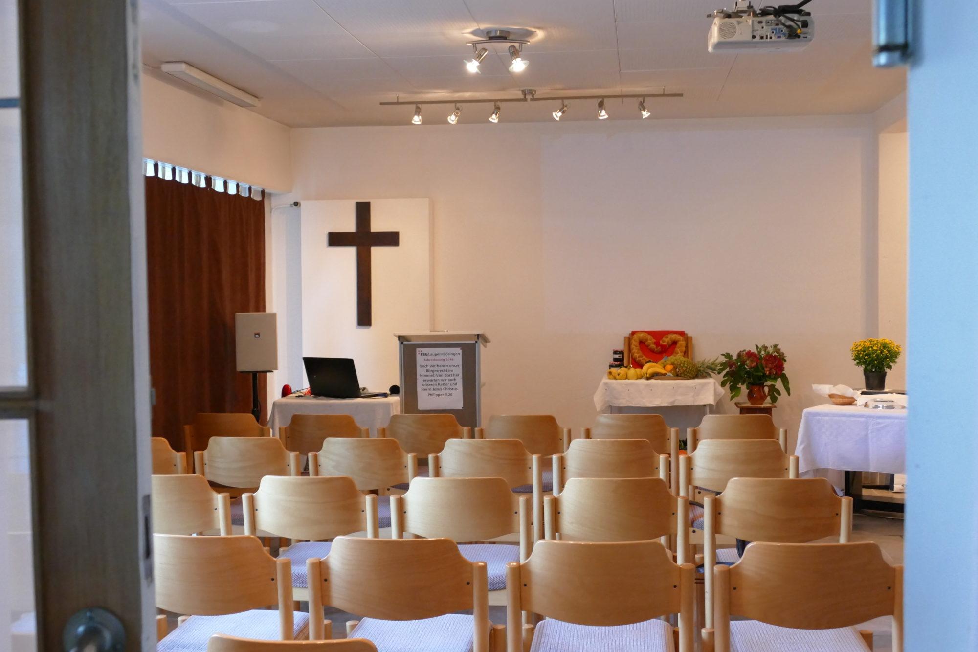 Foto des Gemeindelokals der FEG Laupen-Bösingen von Innen